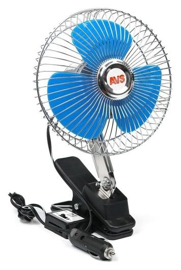 """Вентилятор автомобильный AVS Comfort 8043, 12 В 6"""", металл, серебристый  AVS"""