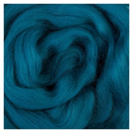 Шерсть для валяния 100% полутонкая шерсть 50 гр (139 морс. волна)  Камтекс