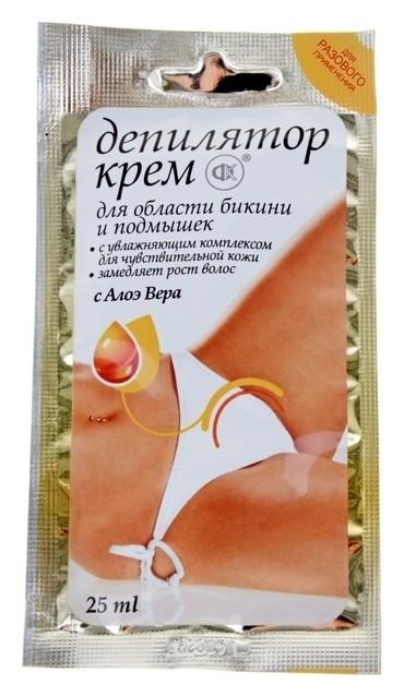 Крем-депилятор для области бикини и подмышек с экстрактом алоэ вера для чувствительной кожи  Фитокосметик
