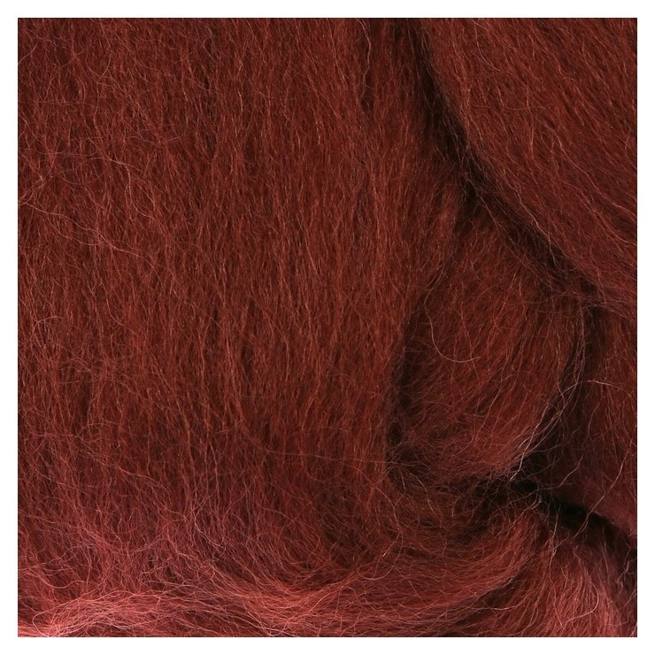 Шерсть для валяния 100% полутонкая шерсть 50 гр (121 коричневый)  Камтекс