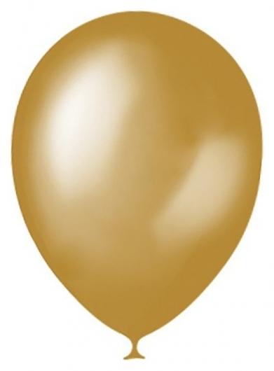 """Шар латексный 5"""", декоратор, набор 100 шт., цвет золотой  Latex Occidental"""