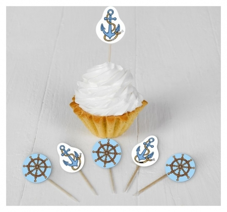 Набор для украшения праздника «Морское путешествие», наклейки, 12 шпажек  Страна Карнавалия