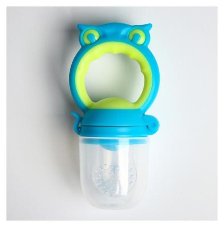 Ниблер силиконовый «Совушка», цвет голубой Mum&baby