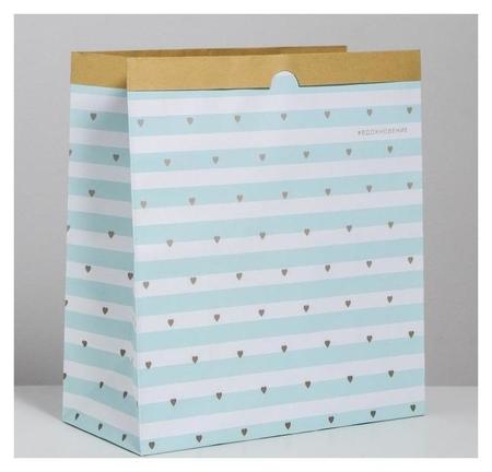 Пакет крафтовый «Вдохновение», 32 × 36 × 16 см  Арт узор