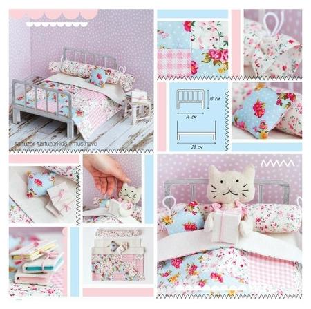 Кроватка для игрушки–малютки «Детство в деревеньке», набор для шитья, 21 × 29,7 × 1 см  Арт узор