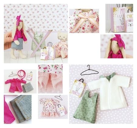 Гардероб и одежда для игрушек малюток «Яркие краски», набор для шитья, 21 × 29,5 × 0,5 см Арт узор