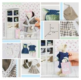 Гардероб и одежда для игрушек малюток, «Принцесска», набор для шитья, 21 × 29,5 × 0,5 см  Арт узор