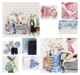 Гардероб и одежда для игрушек малюток «Стильные друзья», набор для шитья, 21 × 29,5 × 0,5 см  Арт узор