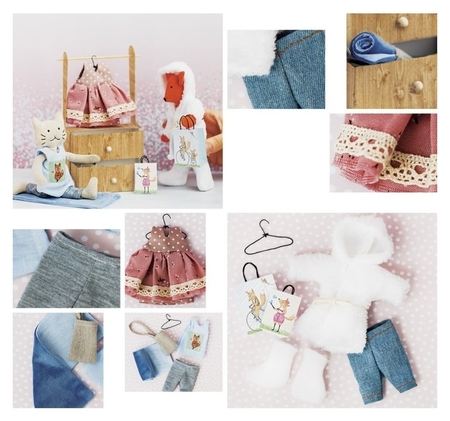 Гардероб и одежда для игрушек малюток, «Добрая зима», набор для шитья, 21 × 29,5 × 0,5 см  Арт узор