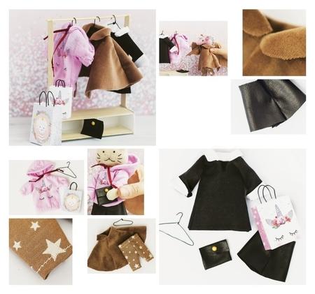Гардероб и одежда для игрушек малюток, «Тепло и уют», набор для шитья, 21 × 29,5 × 0,5 см  Арт узор