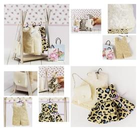 Гардероб для игрушек малюток «Королева вечеринок», набор для шитья, 21 × 29,5 × 0,5 см  Арт узор