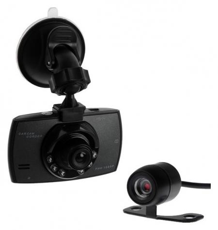 Видеорегистратор Torso, две камеры, HD 1920x1080p, TFT 2.4, обзор 120°  Torso