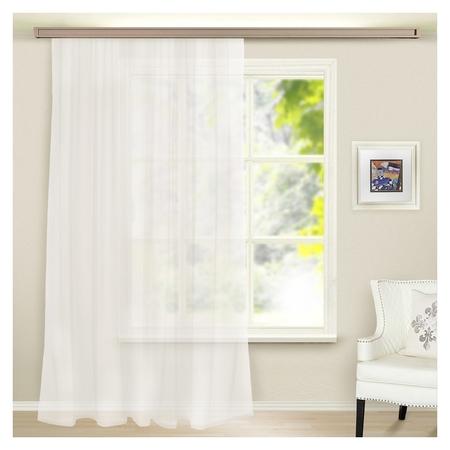 Штора вуаль однотонная 290х260 см, цвет белый  Witerra