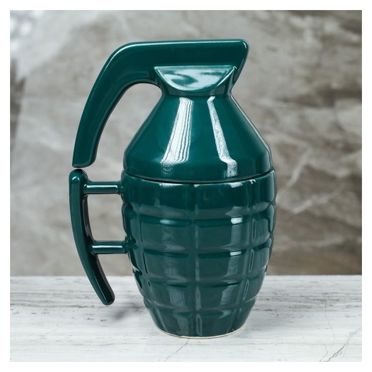 """Кружка """"Граната"""", 0,25 л, зелёная, глянцевая  Керамика ручной работы"""