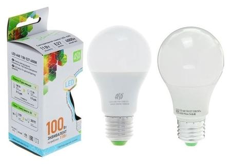 Лампа светодиодная ASD Led-a60-standard, е27, 11 Вт, 230 В, 4000 К, 990 Лм ASD