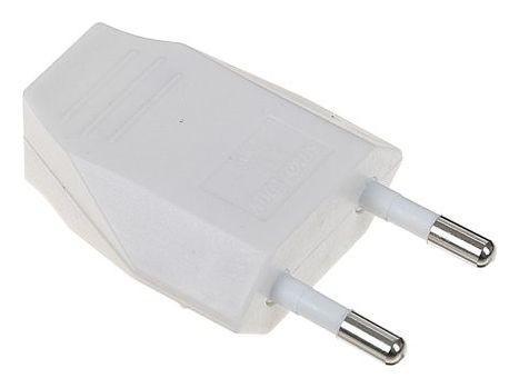 Вилка плоская Smartbuy, 2.5 А, 250 В, белая  Smartbuy