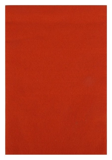 """Фетр """"Soft"""" набор 10 листов, 1мм, 21х29,7 см (Темно-оранжевый)  Рукоделие"""