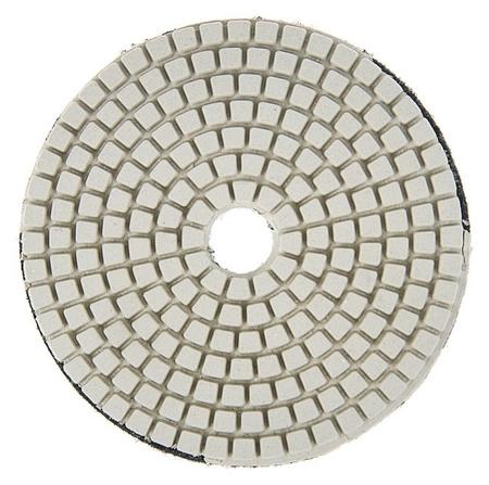 Алмазный гибкий шлифовальный круг Tundra, для мокрой шлифовки, 100 мм, Buff белый  Tundra