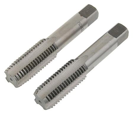 Метчики метрические ручные Tundra, М24 х 3 мм, комплект из 2шт.  Tundra