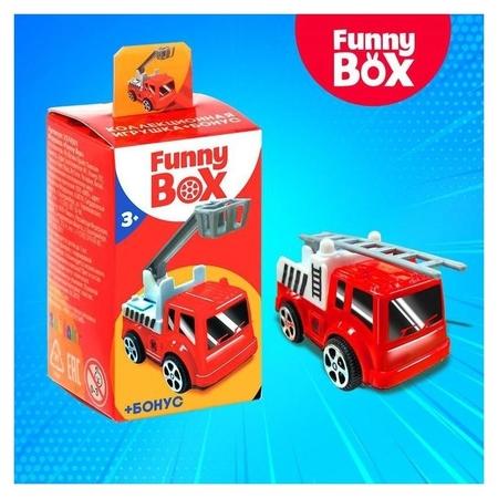 Игровой набор Funny Box Пожарная техника: карточка, фигурка, лист наклеек  Zabiaka