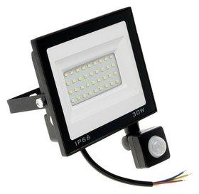 Прожектор светодиодный Luazon Lighting 30 Вт, 2700 Лм, 6500к, датчик движения, Ip66  LuazON