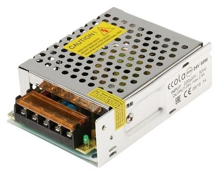Блок питания для светодиодной ленты Ecola, 60 Вт, 220-24 В, Ip20  Ecola