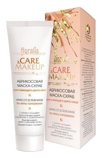 Маска-скраб для сияющего цвета лица абрикосовая  Floralis