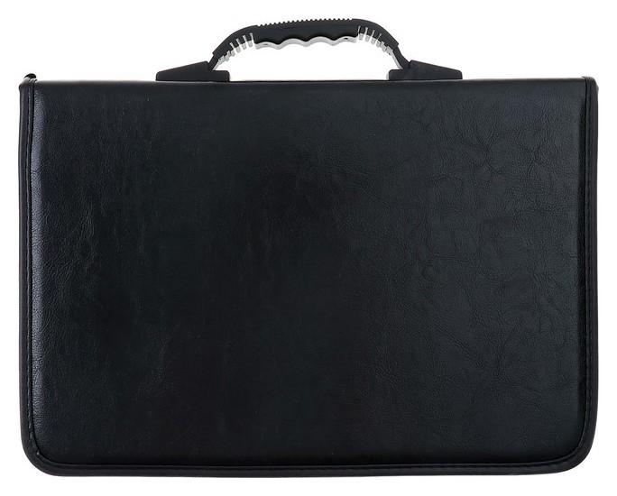 Папка деловая, искусственная кожа, 360 х 260 х 30 мм, «Лайт», канцбург, зажим, ручка-трансформер, чёрная  Канцбург