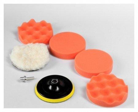 Набор кругов для полировки кузова Torso, 125 мм, 7 предметов Torso