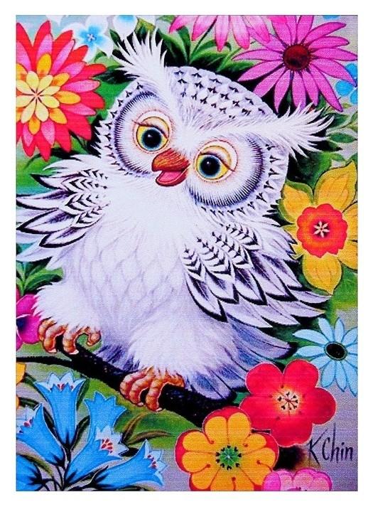 Алмазная мозаика «В цветах» 20 × 28 см, 28 цветов  Milato