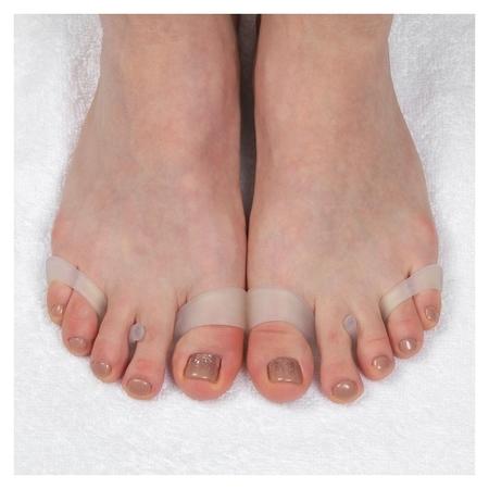 Корректоры для пальцев ног, на 4 пальца, силиконовые, пара, цвет белый  Onlitop