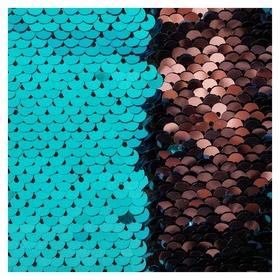 Ткань для пэчворка «Голубая и розовая» пайетки двусторонние, 33 × 33 см  Арт узор