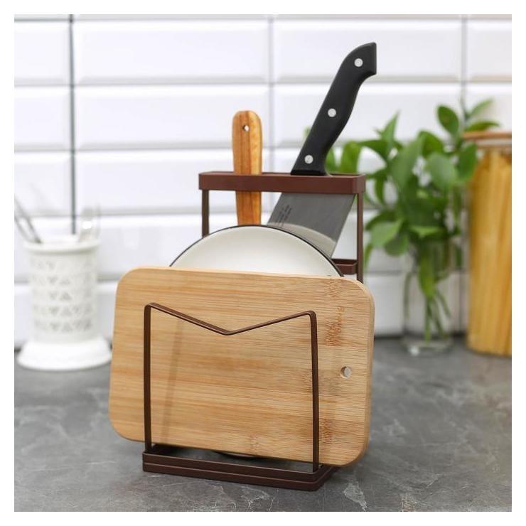 """Подставка для ножей и разделочных досок 13,5×12,5×21,5 см """"Лофт""""  Доляна"""