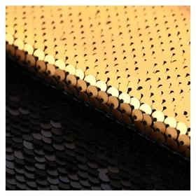 Ткань для пэчворка «Матовая черная-золотая», 33 × 33 см  Арт узор