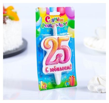 Свеча в торт цифра Юбилейная 25  Омский свечной завод