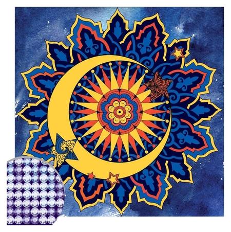 Алмазная вышивка мандала «Месяц» с частичным заполнением, 20 х 20 см. набор для творчества  Школа талантов