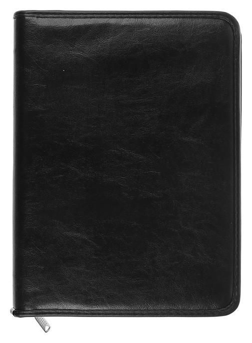 Папка деловая с ручкой «Люкс», 370х275х50 мм, искусственная кожа, чёрная  Канцбург