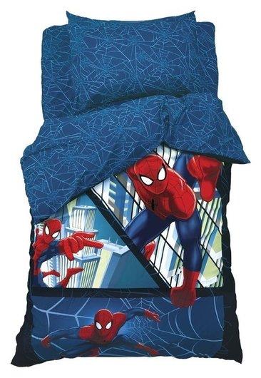 """Детское постельное бельё 1,5 сп """"Человек-паук"""" 143х215 см, 150х214 см, 50х70 см -1 шт., поплин 125 г/м2  Marvel"""