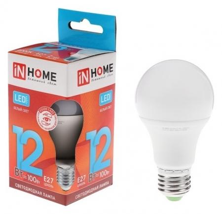 Лампа светодиодная IN Home Led-a60-vc, е27, 12 Вт, 230 В, 4000 К, 1080 Лм  INhome