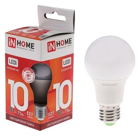 Лампа светодиодная IN Home Led-a60-vc, е27, 10 Вт, 230 В, 6500 К, 900 Лм  INhome