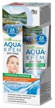 Aqua-крем для лица на термальной воде Камчатки с маслом персика, экстрактом зеленого кофе и календулы «Глубокое питание»