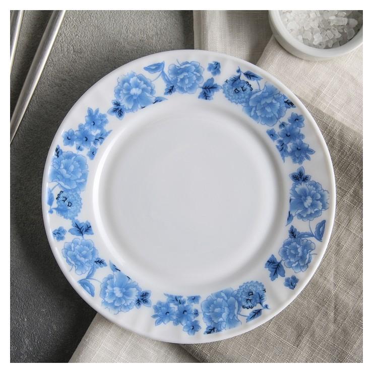 """Тарелка десертная D=17,5 см """"Синий бриз""""  Доляна"""