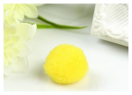 Помпоны для творчества, желтые, 25 мм, (Набор 20 шт)  Остров сокровищ