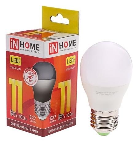 Лампа светодиодная IN Home Led-шар-vc, е27, 11 Вт, 230 В, 3000 К, 820 Лм  INhome