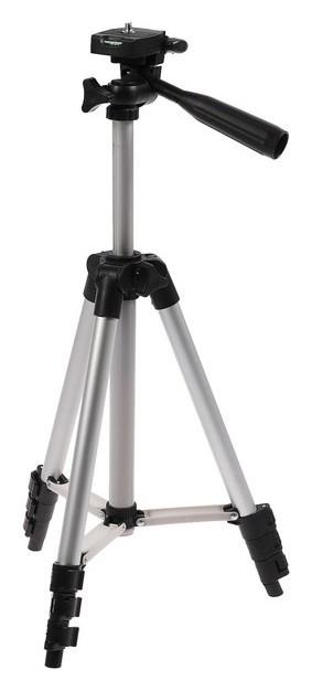 Штатив Luazon напольный, регулирование высоты 34-108 см, черно-серый  LuazON