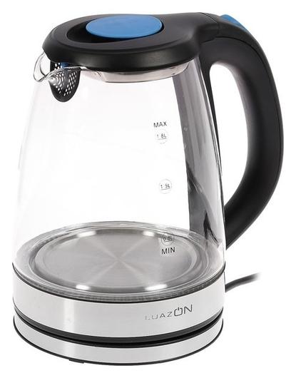 Чайник электрический Luazon Lsk-1810, 1500 Вт, 1.8 л, стекло, подсветка, серебристый LuazON