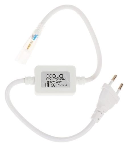 Блок питания для светодиодной ленты Ecola, 1500 Вт, 220 В, Ip68, с разъемом и вилкой  Ecola