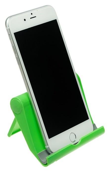 Подставка для телефона Luazon, складная, регулируемая высота, зелёная  LuazON