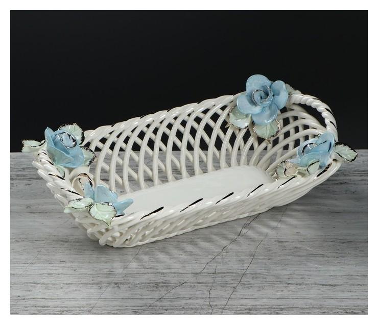 """Конфетница """"Эклерница"""", цветная лепка, плетение, 8 см  Керамика ручной работы"""