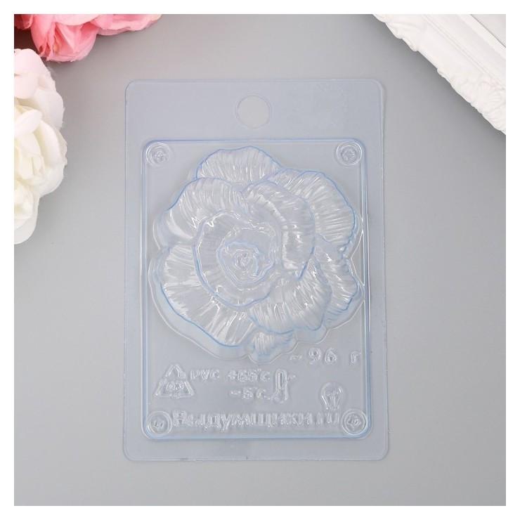 "Пластиковая форма ""Роза фактурная"" 8,2х8,2х2,5 см  Выдумщики"